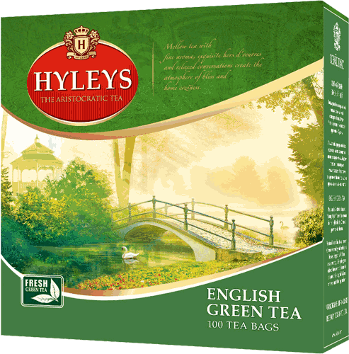 Чай Hyleys English Green Tea (100 пак.)