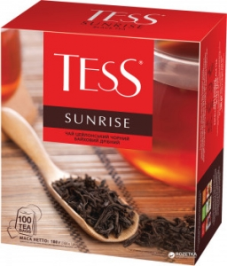 Чай чорний TESS Sunrise (100 пак.)